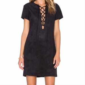 Wayf Faux Suede Dress